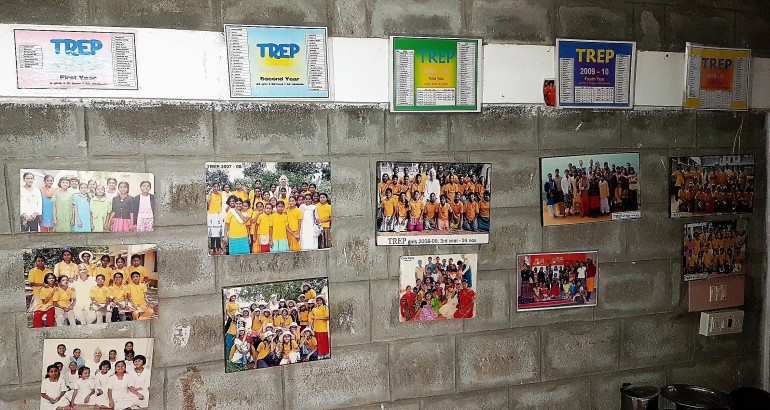 Each years group pictures are displayed